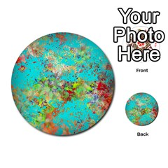 Abstract Garden In Aqua Multi Purpose Cards (round)  by theunrulyartist