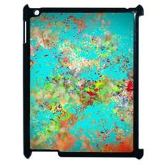 Abstract Garden In Aqua Apple Ipad 2 Case (black) by theunrulyartist