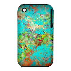 Abstract Garden In Aqua Apple Iphone 3g/3gs Hardshell Case (pc+silicone) by theunrulyartist