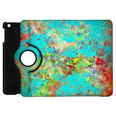 Abstract Garden In Aqua Apple Ipad Mini Flip 360 Case by theunrulyartist