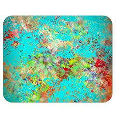 Abstract Garden In Aqua Double Sided Flano Blanket (medium)  by theunrulyartist