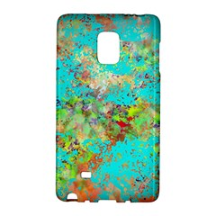 Abstract Garden In Aqua Galaxy Note Edge by theunrulyartist