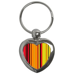Hot Stripes Fire Key Chains (heart)  by ImpressiveMoments