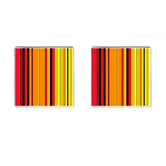 Hot Stripes Fire Cufflinks (square) by ImpressiveMoments