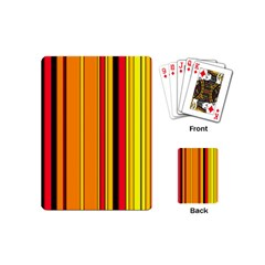 Hot Stripes Fire Playing Cards (mini)  by ImpressiveMoments