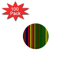 Hot Stripes Grenn Blue 1  Mini Buttons (100 pack)  by ImpressiveMoments
