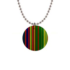 Hot Stripes Grenn Blue Button Necklaces by ImpressiveMoments