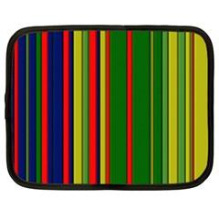 Hot Stripes Grenn Blue Netbook Case (large) by ImpressiveMoments