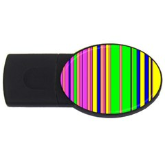 Hot Stripes Rainbow Usb Flash Drive Oval (4 Gb)  by ImpressiveMoments