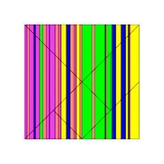 Hot Stripes Rainbow Acrylic Tangram Puzzle (4  X 4 ) by ImpressiveMoments