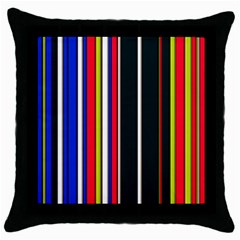 Hot Stripes Red Blue Throw Pillow Cases (black) by ImpressiveMoments