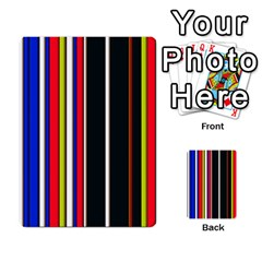 Hot Stripes Red Blue Multi-purpose Cards (Rectangle)  by ImpressiveMoments