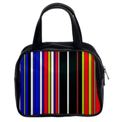 Hot Stripes Red Blue Classic Handbags (2 Sides) by ImpressiveMoments