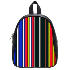 Hot Stripes Red Blue School Bags (small)  by ImpressiveMoments