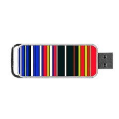 Hot Stripes Red Blue Portable Usb Flash (two Sides)