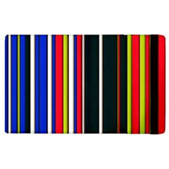 Hot Stripes Red Blue Apple Ipad 3/4 Flip Case by ImpressiveMoments
