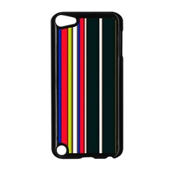 Hot Stripes Red Blue Apple Ipod Touch 5 Case (black) by ImpressiveMoments