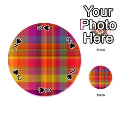 Plaid, Hot Playing Cards 54 (round)  by ImpressiveMoments