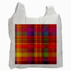 Plaid, Hot Recycle Bag (two Side)  by ImpressiveMoments