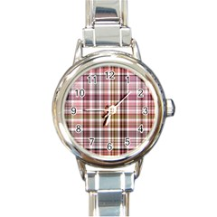 Plaid, Candy Round Italian Charm Watches by ImpressiveMoments