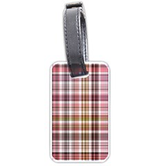 Plaid, Candy Luggage Tags (two Sides) by ImpressiveMoments