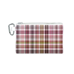 Plaid, Candy Canvas Cosmetic Bag (S) by ImpressiveMoments