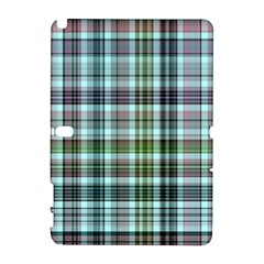 Plaid Ocean Samsung Galaxy Note 10 1 (p600) Hardshell Case by ImpressiveMoments