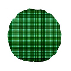Plaid Forest Standard 15  Premium Flano Round Cushions by ImpressiveMoments