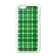 Plaid Forest Apple Iphone 6 White Enamel Case by ImpressiveMoments