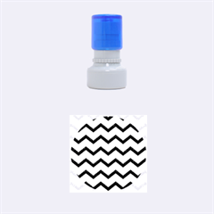 Chevron Blue Rubber Round Stamps (Small) by ImpressiveMoments