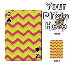 Chevron Yellow Pink Playing Cards 54 Designs