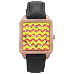 Chevron Yellow Pink Rose Gold Watches by ImpressiveMoments