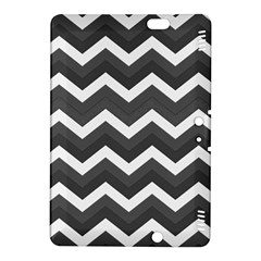 Chevron Dark Gray Kindle Fire HDX 8.9  Hardshell Case by ImpressiveMoments