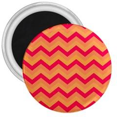 Chevron Peach 3  Magnets by ImpressiveMoments