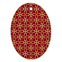 Cute Seamless Tile Pattern Gifts Oval Ornament (two Sides) by creativemom