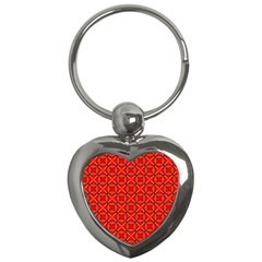 Cute Seamless Tile Pattern Gifts Key Chains (heart)  by creativemom