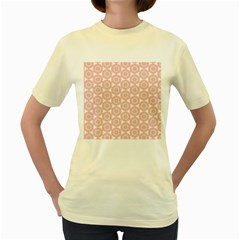 Cute Seamless Tile Pattern Gifts Women s Yellow T Shirt by creativemom