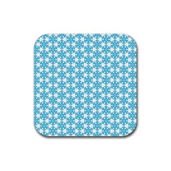 Cute Seamless Tile Pattern Gifts Rubber Square Coaster (4 Pack)  by creativemom