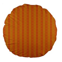 Cute Seamless Tile Pattern Gifts Large 18  Premium Flano Round Cushions by creativemom