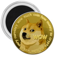 Dogecoin 3  Magnets by dogestore