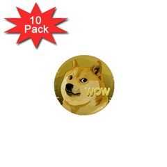 Dogecoin 1  Mini Magnet (10 Pack)  by dogestore