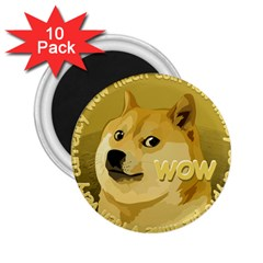 Dogecoin 2 25  Magnets (10 Pack)  by dogestore