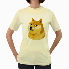 Dogecoin Women s Yellow T-Shirt by dogestore