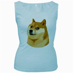 Dogecoin Women s Baby Blue Tank Tops by dogestore
