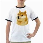 Dogecoin Ringer T-Shirts