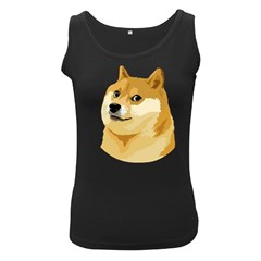 Dogecoin Women s Black Tank Tops by dogestore