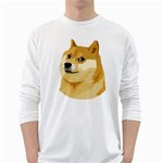 Dogecoin White Long Sleeve T-Shirts