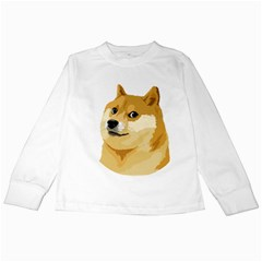 Dogecoin Kids Long Sleeve T Shirts by dogestore