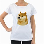 Dogecoin Women s Loose-Fit T-Shirt (White)