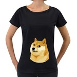 Dogecoin Women s Loose-Fit T-Shirt (Black)